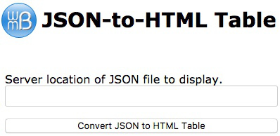 JSON Into HTML Table